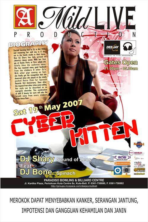 CYBER KITTEN WITH SHARY AND BONE, 19 MAY @ DJ CLUB BALI Soz-ba10