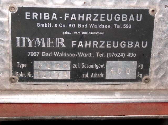 Plaque constructeur Eriba / Hymer [Post Photos] - Page 10 Hpim2914