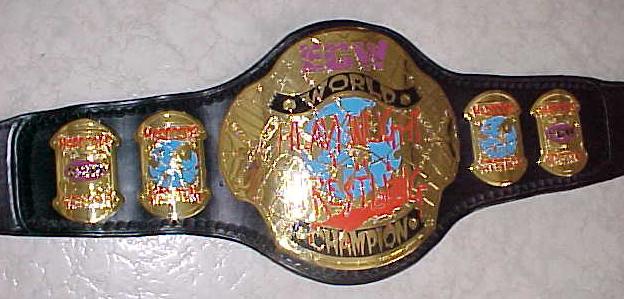 Cinturones de los diferentes campeonatos Ecw10