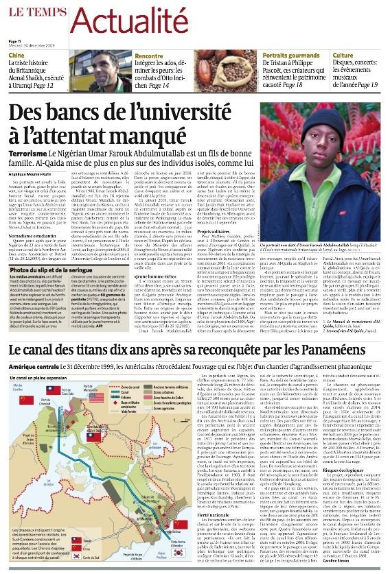 Le canal des titans, Le Temps, Genève,  mercredi 30 décembre 2009 Le_tem11