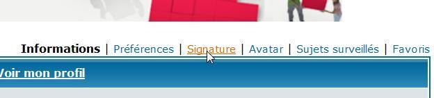 Mettre à jour la signature de son profil Prints34