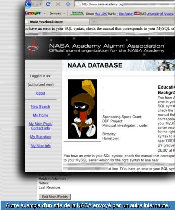 en bref: plusieur sites web de la nasa piratés 20964210