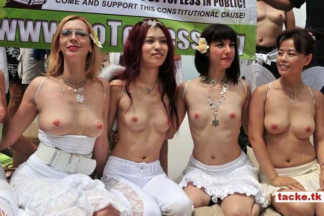 biểu tình đòi quyền được cởi trần ở Mĩ 110