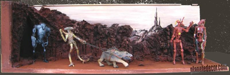 mes decors pour figurines starwars new décor Hasbro podracer 14210