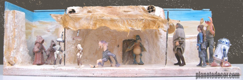 mes decors pour figurines starwars new décor Hasbro podracer 46310