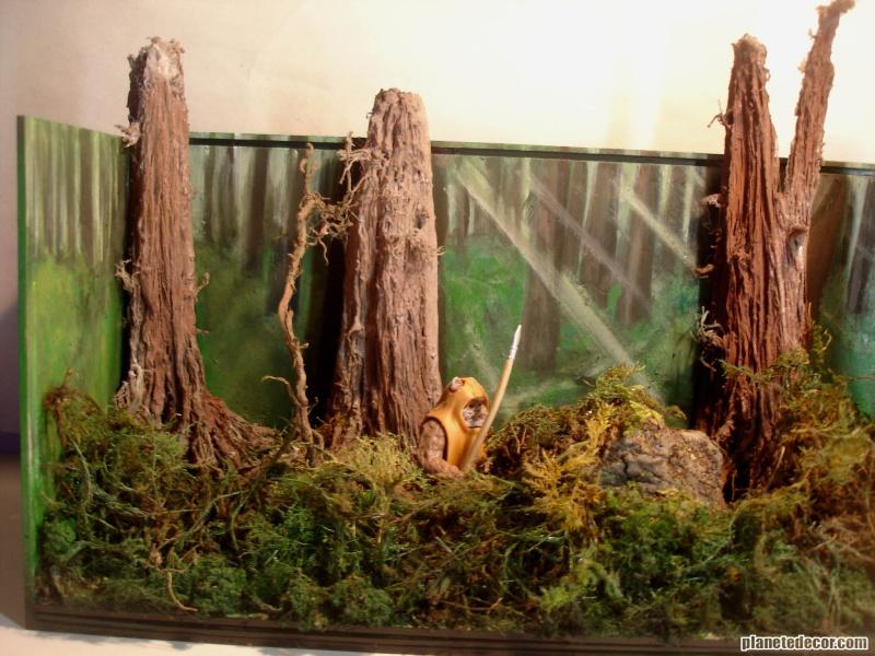 mes decors pour figurines starwars new décor Hasbro podracer Endor_10