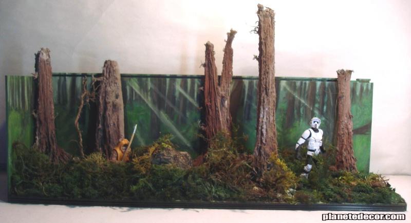 mes decors pour figurines starwars new décor Hasbro podracer Endorr10