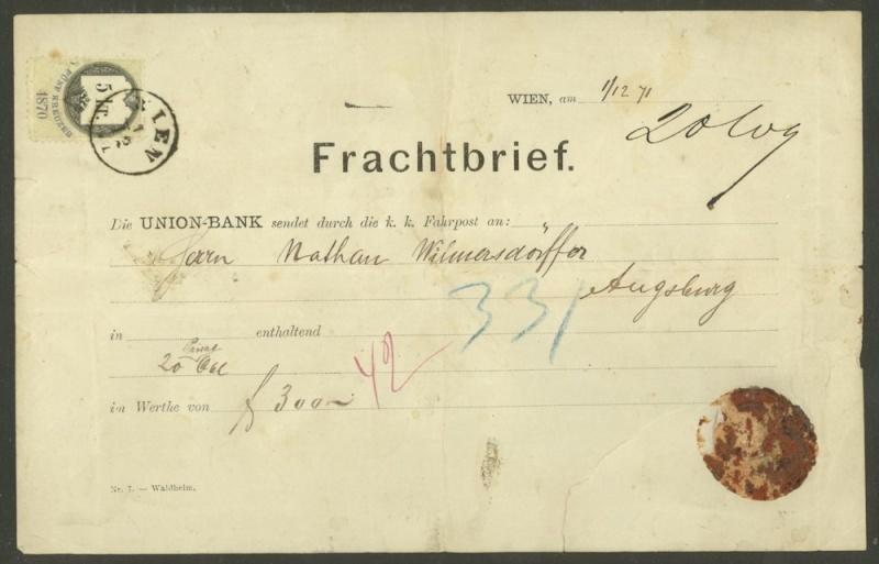 Frachtpost in Österreich / Transporte über Land 0410