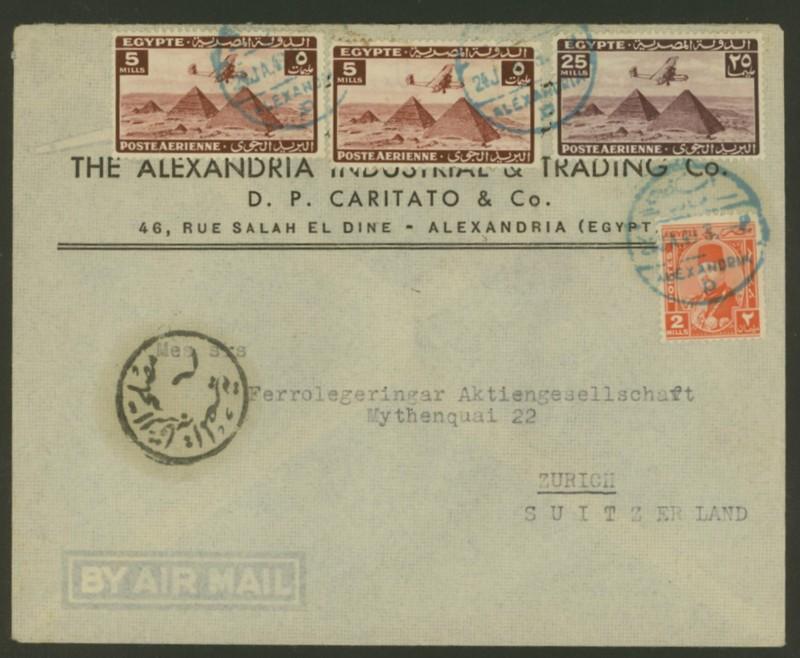 Ägypten  -  Briefe und andere Poststücke 0414