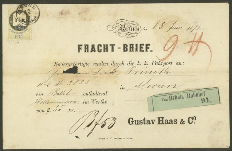 Frachtpost in Österreich / Transporte über Land 0510