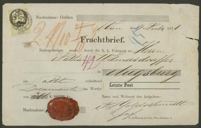Frachtpost in Österreich / Transporte über Land 0612