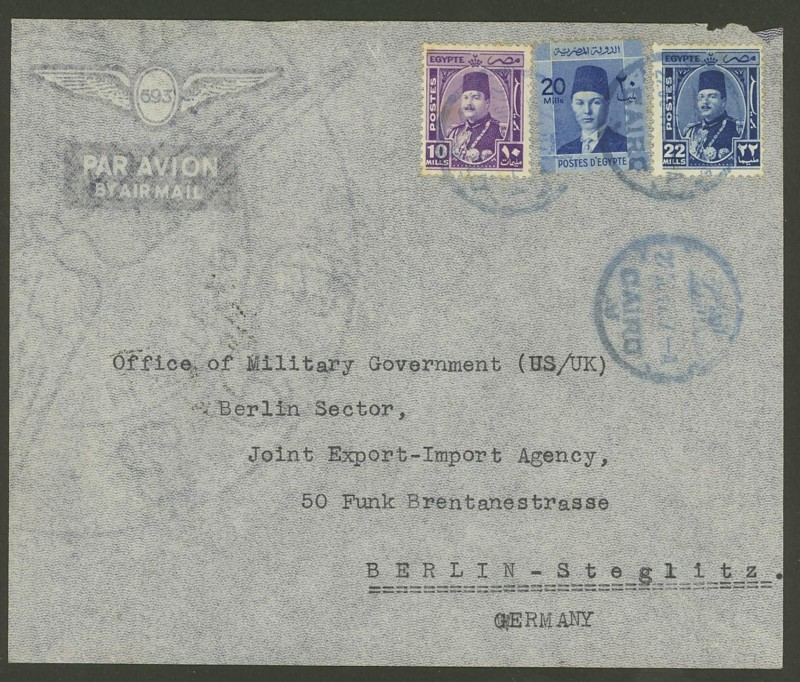 Ägypten  -  Briefe und andere Poststücke 0613