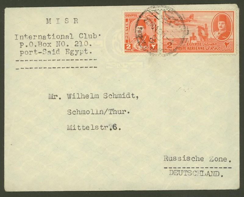 Ägypten  -  Briefe und andere Poststücke 0711