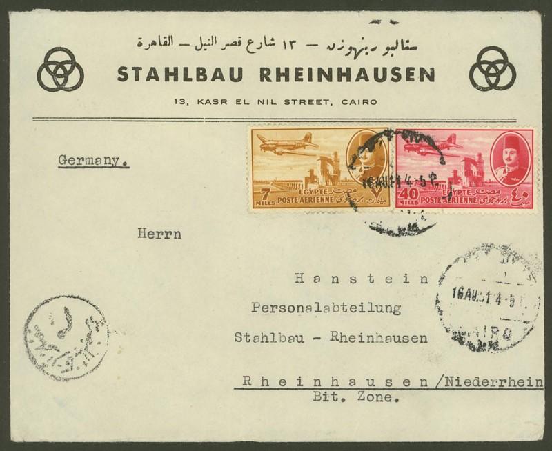 Ägypten  -  Briefe und andere Poststücke 0811