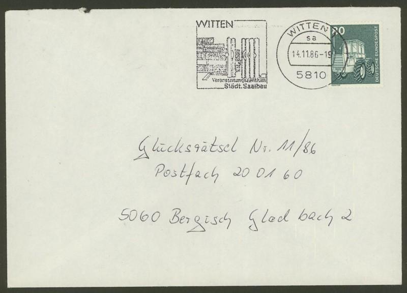 Bundesrepublik Deutschland  -  Einzel- und Mehrfachfrankaturen 085310