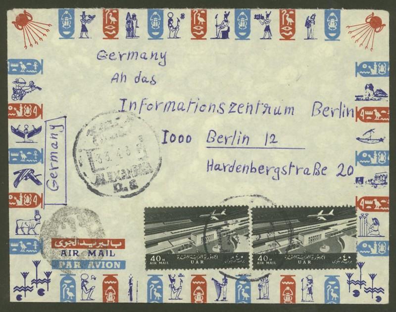 Ägypten  -  Briefe und andere Poststücke 1010