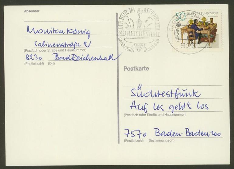 Bundesrepublik Deutschland  -  Einzel- und Mehrfachfrankaturen 101110