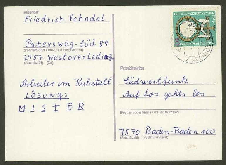 Bundesrepublik Deutschland  -  Einzel- und Mehrfachfrankaturen 101710