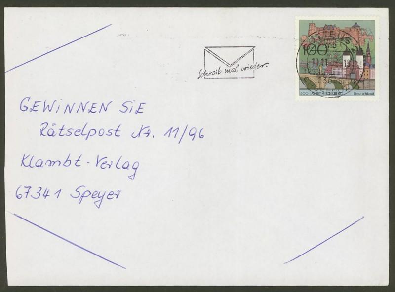 Bundesrepublik Deutschland  -  Einzel- und Mehrfachfrankaturen 186810