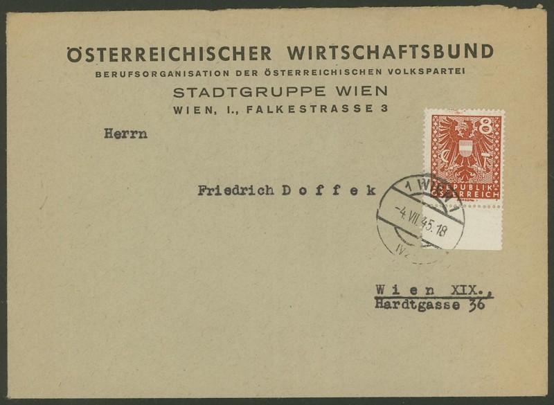 Wappenzeichnung  -  ANK 714-736 - Belege Avp10