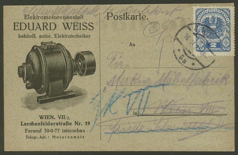 Ältere Briefe von Österreich  -  nett anzuschauen Werbek10