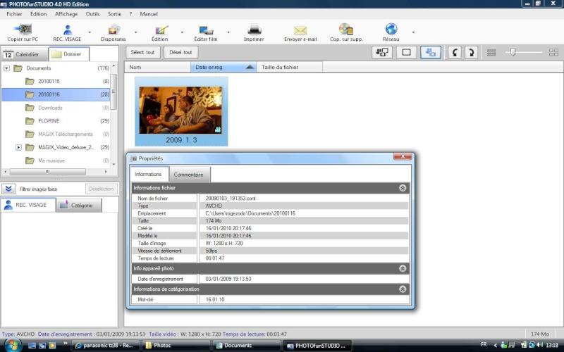 Travailler une vidéo avec FZ38 Vidao10
