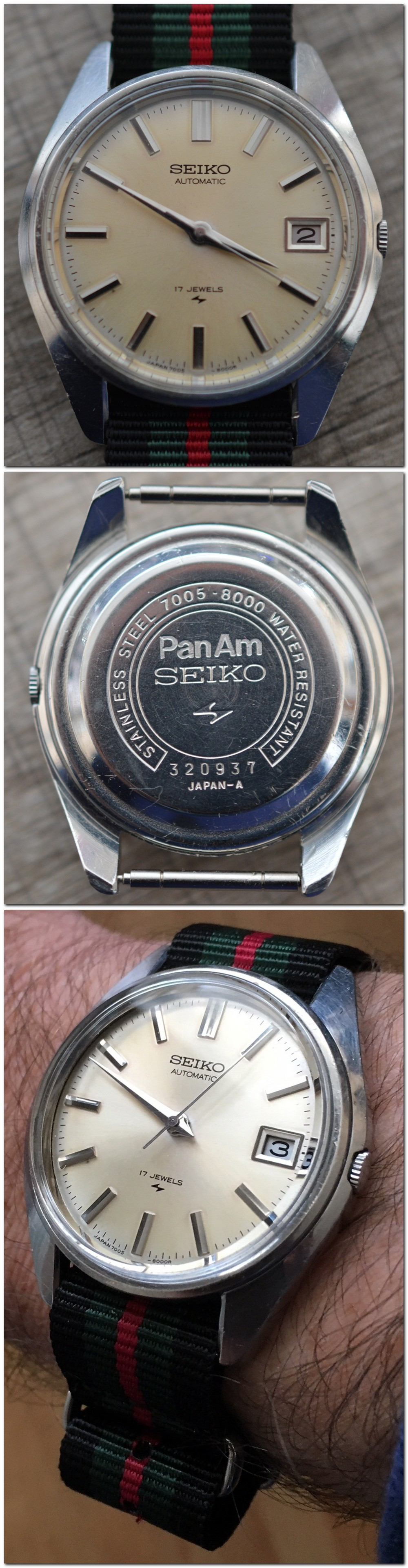 SEIKO & PanAm sur une 7005-8000 2018-111