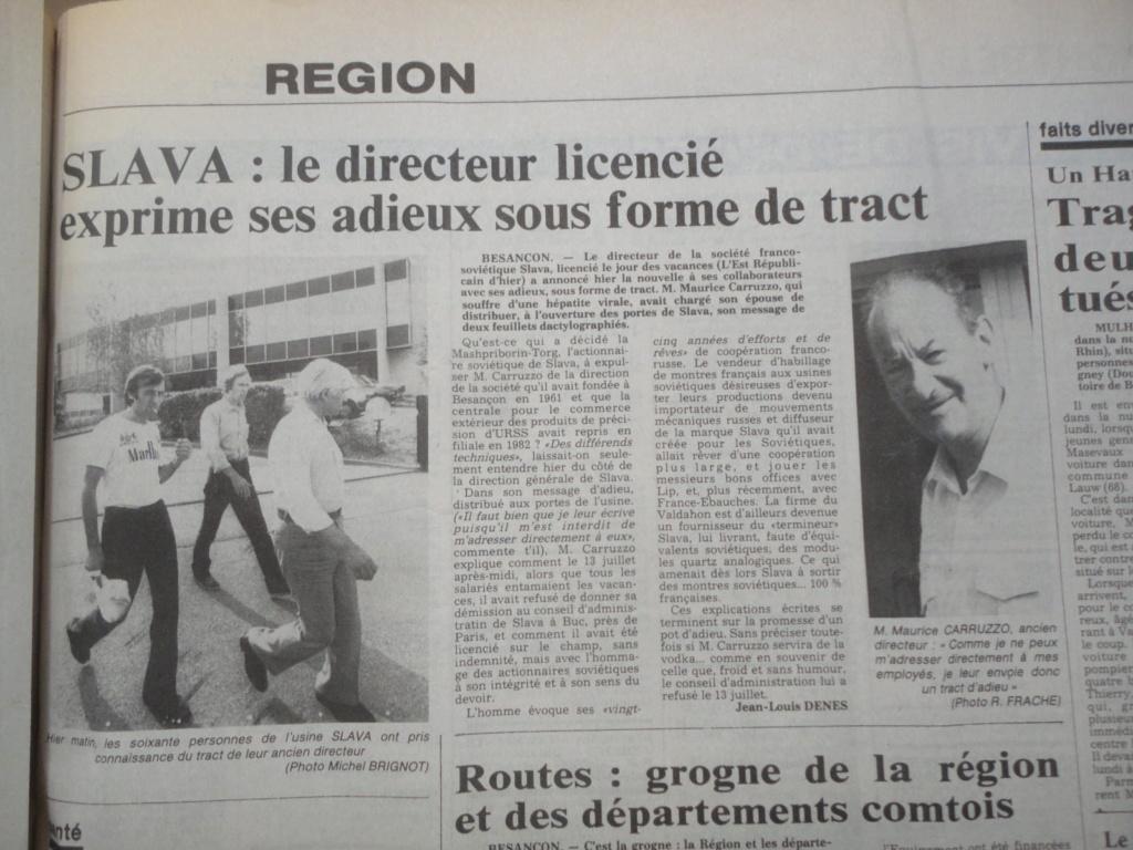 Raketa bizontine et petite histoire de l'usine Slava de Besançon L-est-10