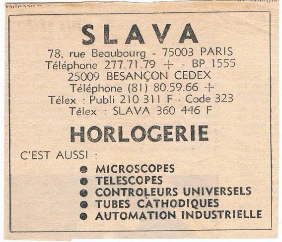 Raketa bizontine et petite histoire de l'usine Slava de Besançon Une-pu10