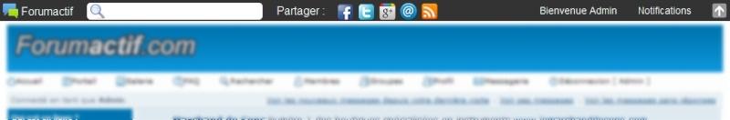 La toolbar, le centre des notifications & les messages des bannis 101011