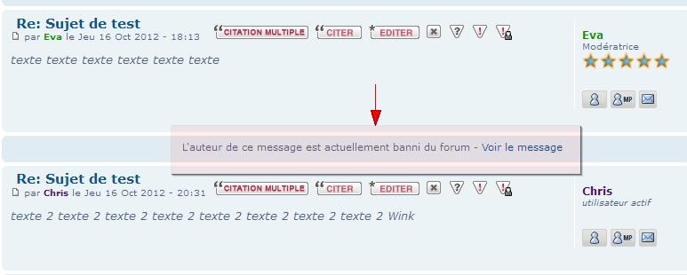 La toolbar, le centre des notifications & les messages des bannis 51010