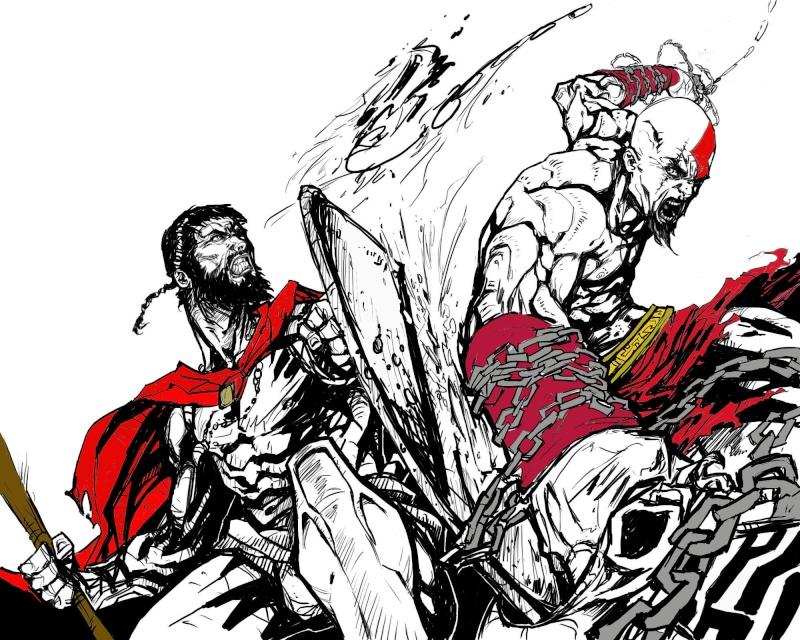 """Leónidas I y sus """"300 Espartanos"""" Kratos10"""