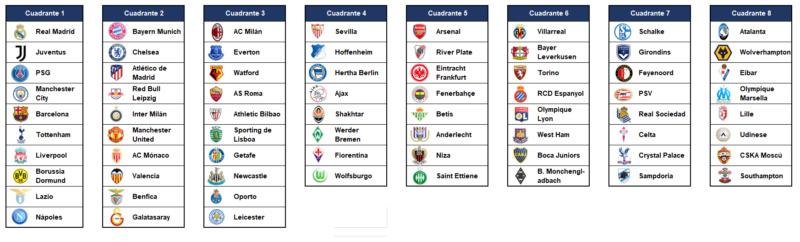 Cuandrantes Copa LVM 2019/20 Copalv10