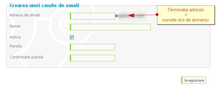 Crearea de conturi de e-mail personalizate si de redirecţionări după achiziţionarea unui domeniu personalizat 23909310