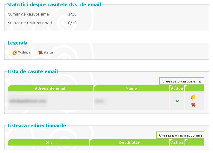 Crearea de conturi de e-mail personalizate si de redirecţionări după achiziţionarea unui domeniu personalizat 53266310