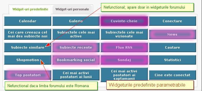 Widgeturi (module) predefinite 76806110