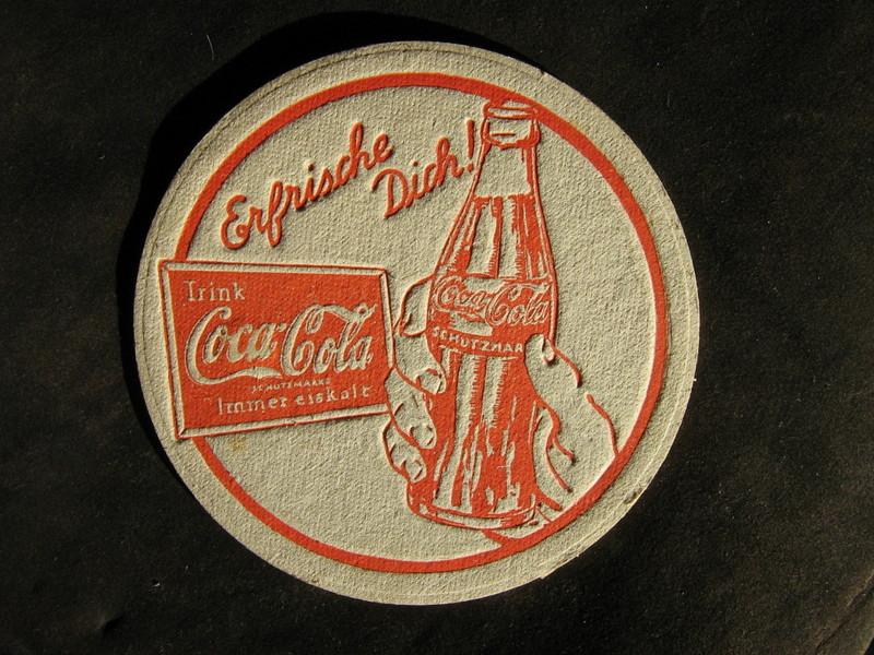 Sous verre Coca cola Allemagne 1935-36 160d3010