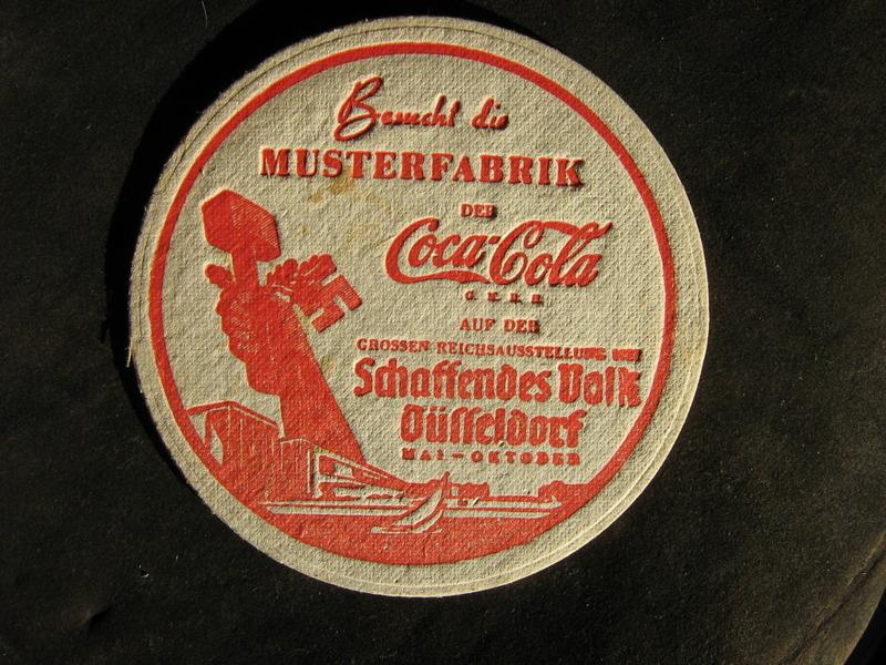 Sous verre Coca cola Allemagne 1935-36 29ghki10
