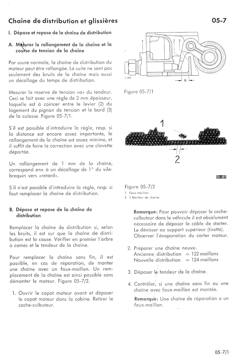 tension chaine transmission Distri11