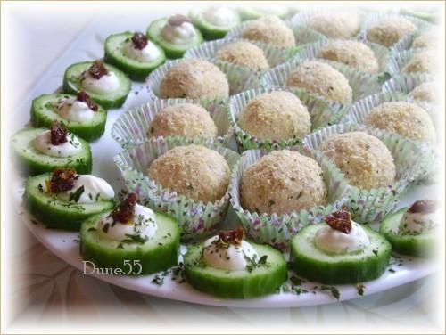 Boulettes froides au jambon en grappe Pict6612