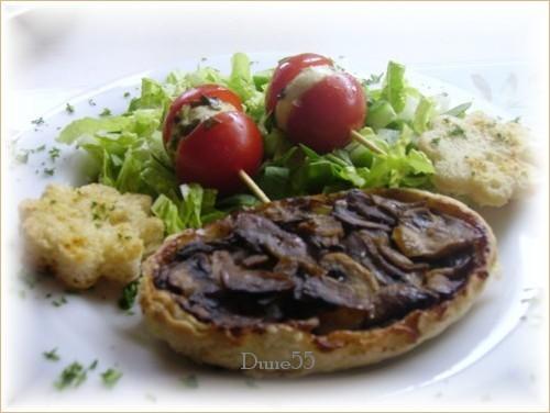 Tarte Tatin de champignons Pict8127