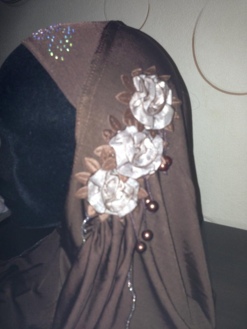 HIJAB à fleur perle et strass 4e Img_3815