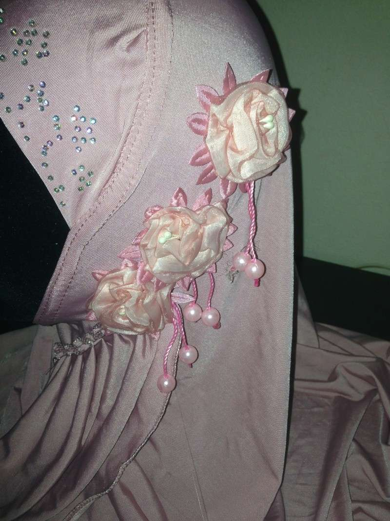 HIJAB à fleur perle et strass 4e Img_3817