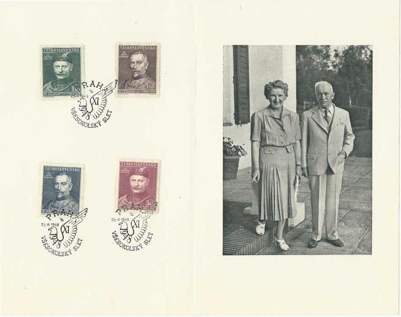 Tschechoslowakei - Briefmarkenausgaben 1948 Sokolk10