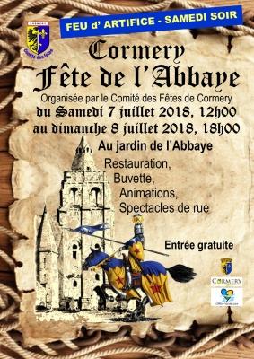 Fête de l'Abbaye - Cormery - 07 & 08 Juillet 2018 Affich10