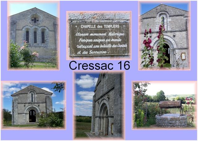 visite : 16 - Cressac St genis (Blanzac), chapelle templiers 16_sud14