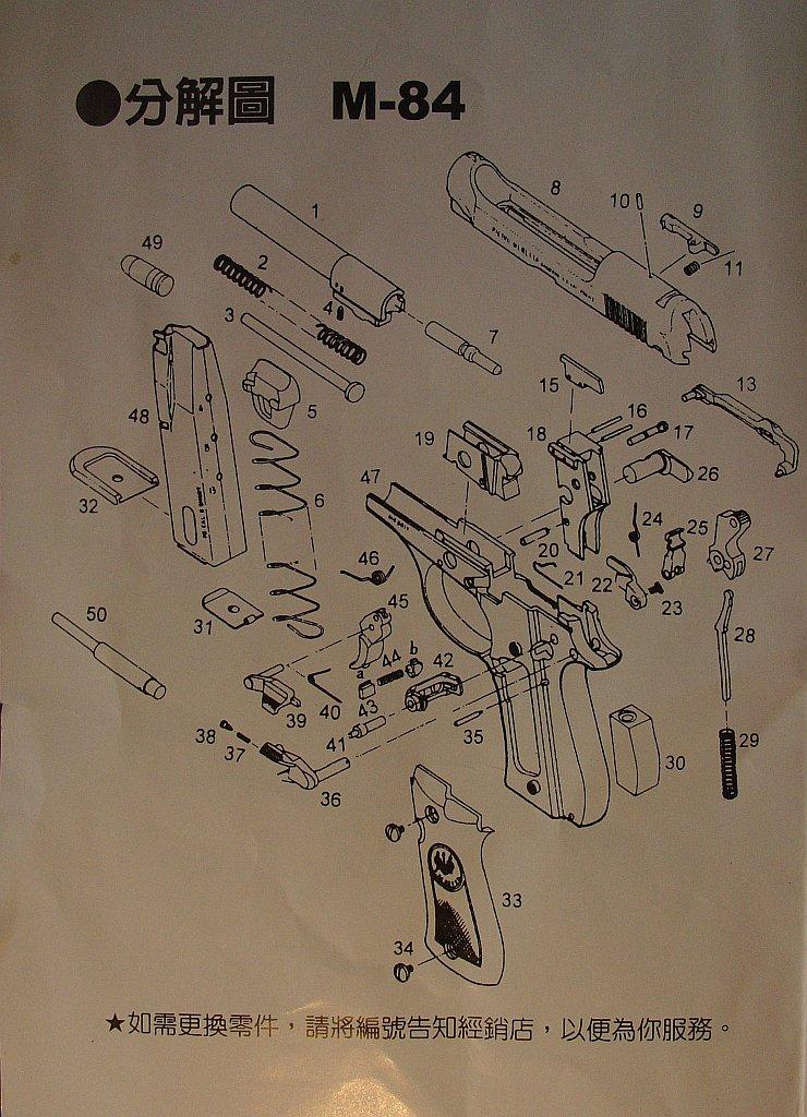 Wa Shan Beretta M84 manual 92-man10