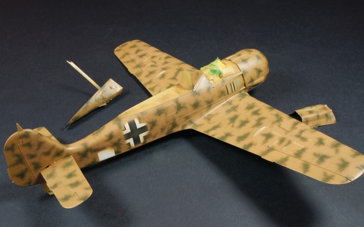 1/72nd Fw-190's and Airfix P-40 Dsc00710