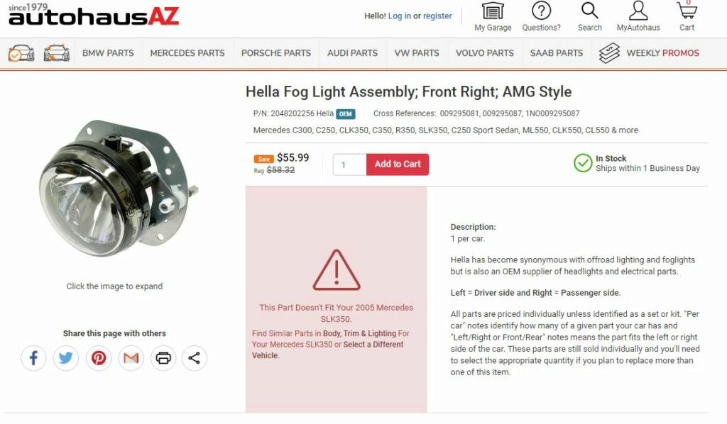 Remplacement vitre anti-brouillard avec option 772 Ab_amg11