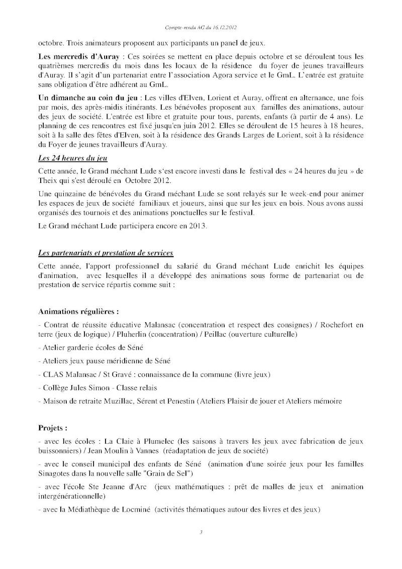 Assemblée générale ordinaire du 16 Décembre 2012 Cr310
